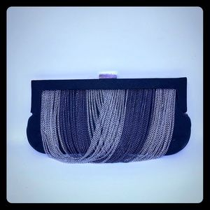 New black and silver clutch by Charming Charlie
